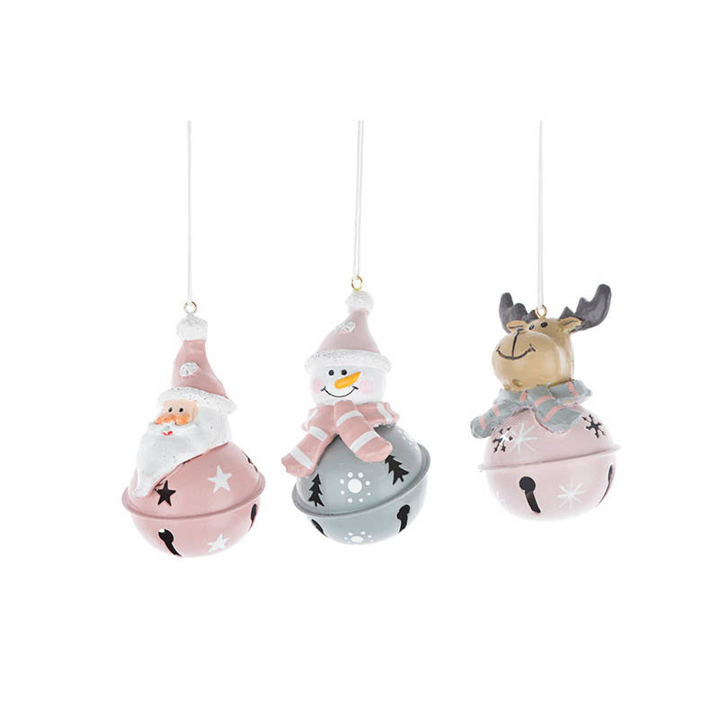Metal Christmas Bell Hanging Xmas Trees Ornaments