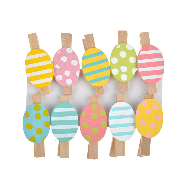 Handmade Wooden Craft Egg Easter Party Decoration
