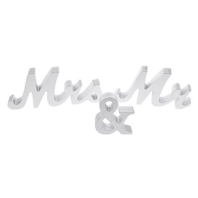 Wooden Top Table Mr And Mrs Signs Wedding Decorations