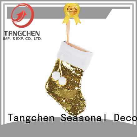 Tangchen Custom unique christmas stockings for business for holiday decoration