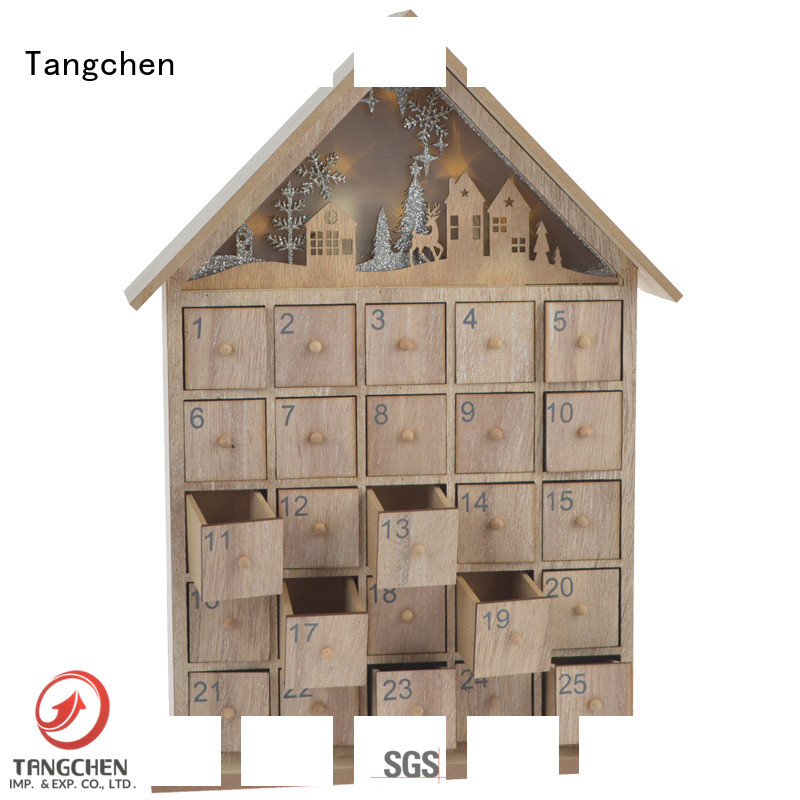 Tangchen party wooden christmas advent calendar Supply for wedding