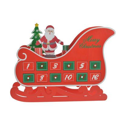 Countdown To Christmas  Sleigh Advent Calendar  Decor