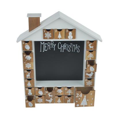 Wooden Christmas Advent Calendar Countdown House
