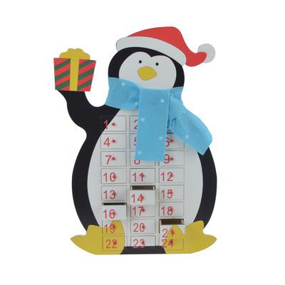 Wooden Penguin Advent Calendar Christmas Decoration