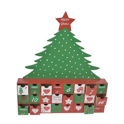 Wooden Tree Advent Calendar Christmas Decoration