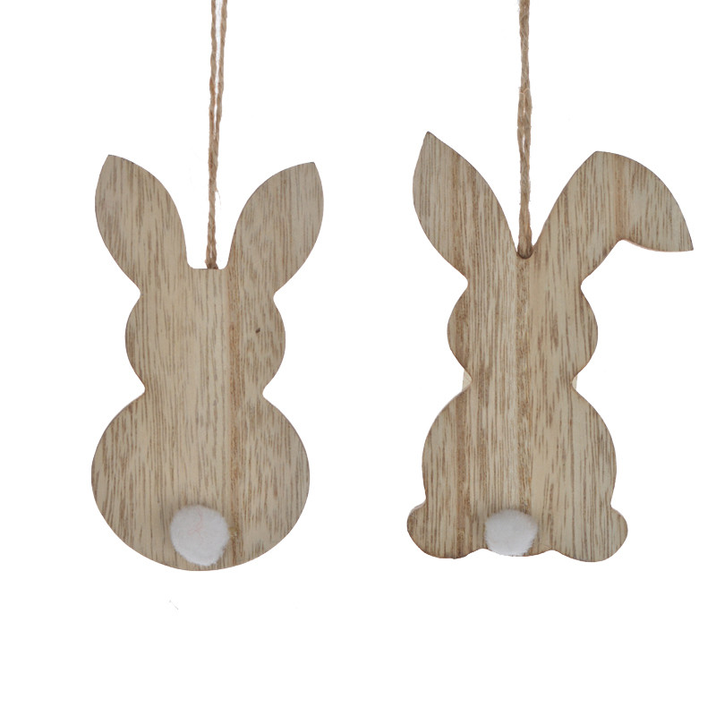 Wooden Easter Hanging Sign Rabbit Gift Decorations
