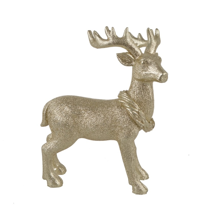Poly Stand Deer Neck Christmas Resin Ornaments