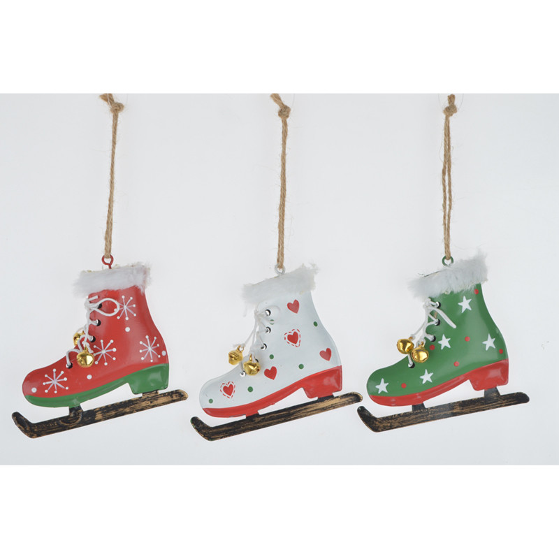 Metal snowshoes pendant Christmas Tree Decorations