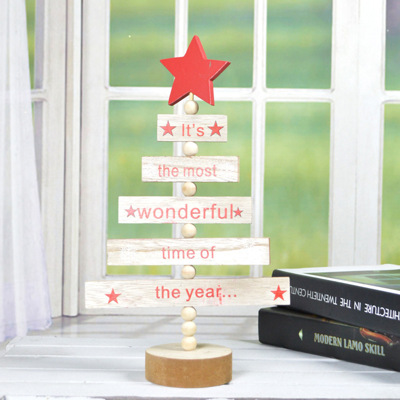 Tree Shaped Blessing Words Christmas Decor
