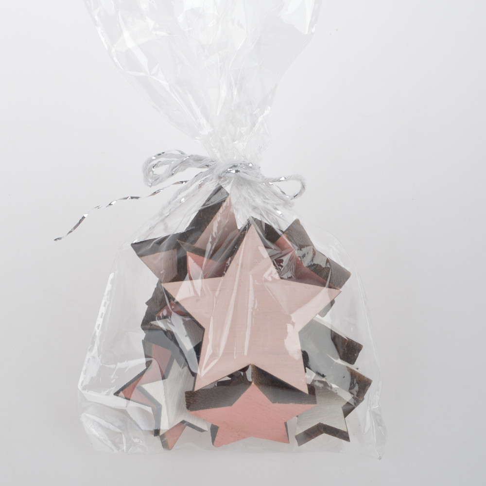 High quality wooden star decoration customized christmas items