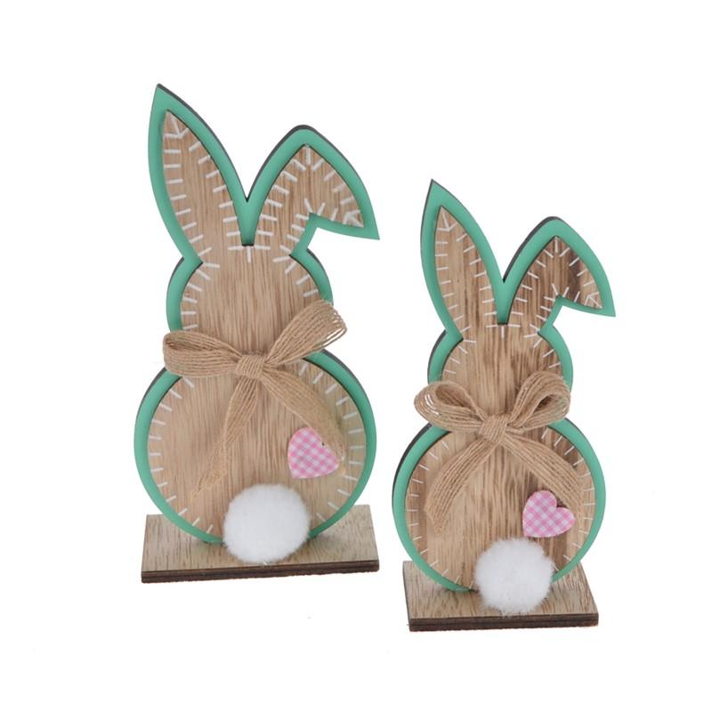 Lovely wooden rabbit decoration easter home decor