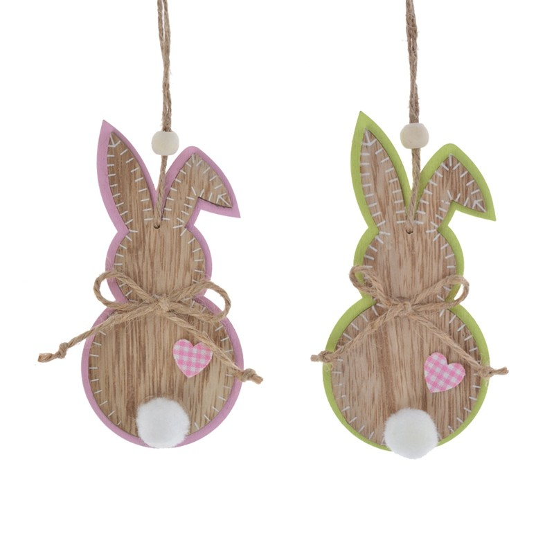 Plywood easter rabbit decoration wooden bunny hanging