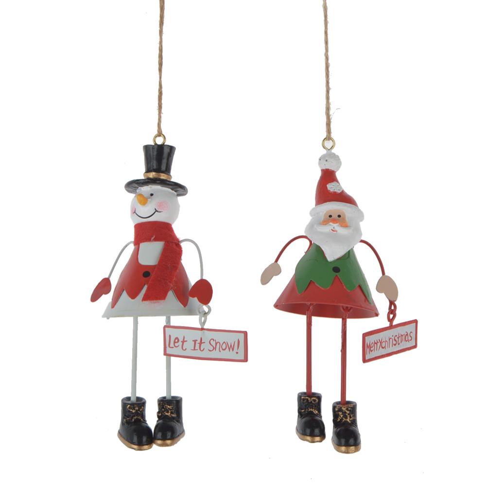 metal snowman hanging Santa Clause Christmas pendant