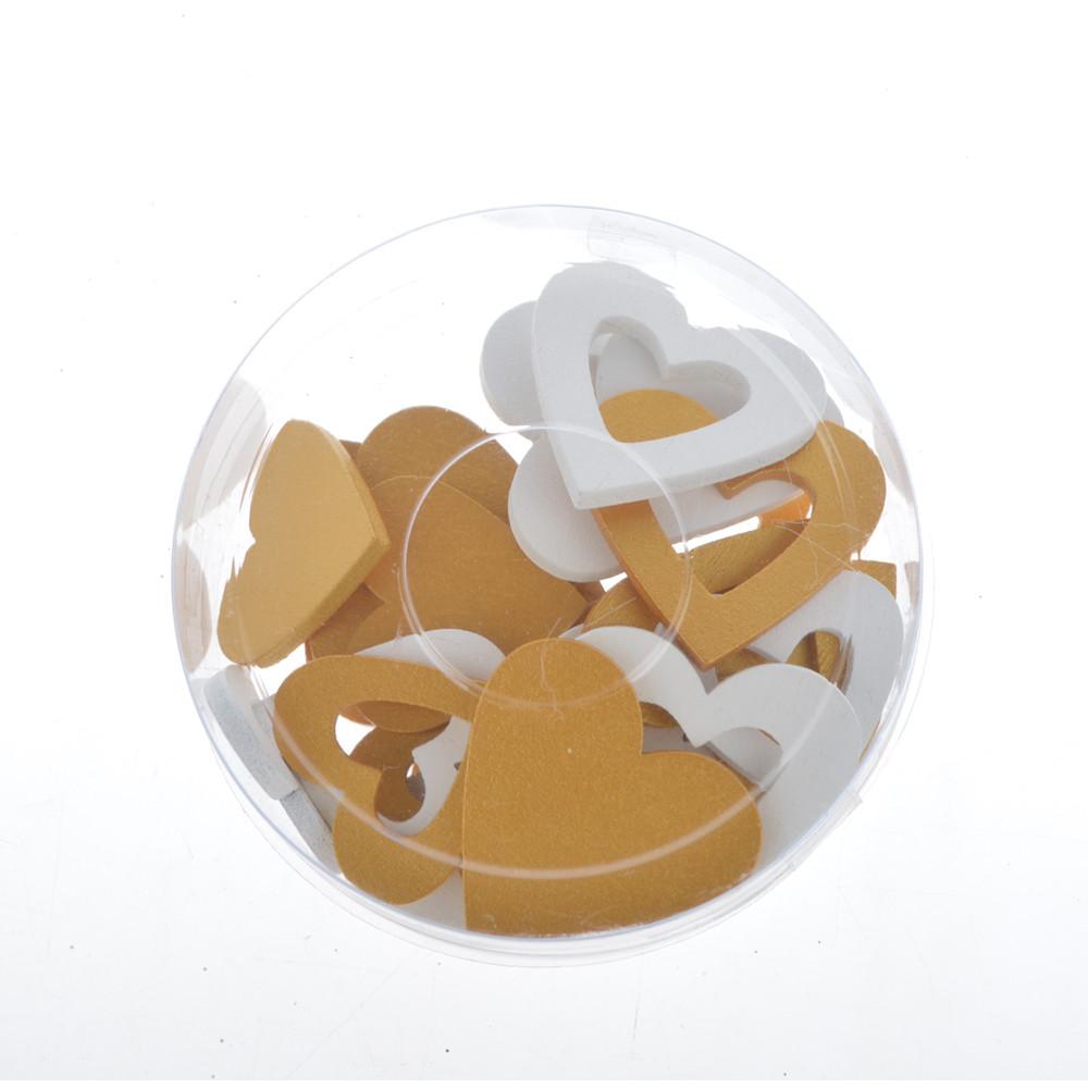 wooden scatter decoration heart shape wooden slice desktop decor wedding accessory