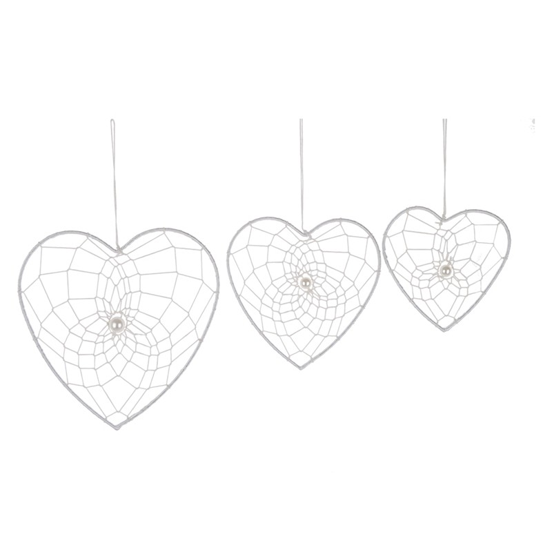 Hand made metal heart hanging wedding tree and wall decoration