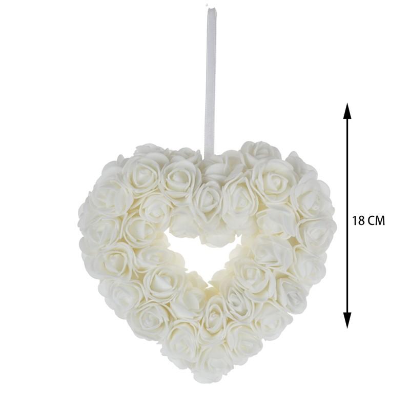 Hand made fabric flower combine heart design wedding decoration
