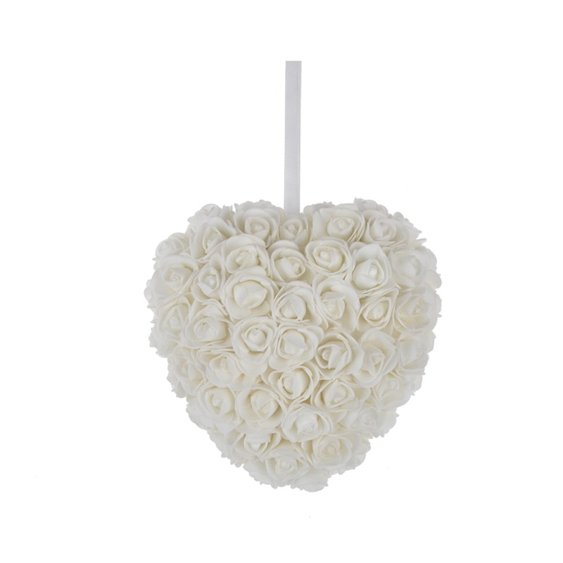Fabric material wedding party decoration heart hanging