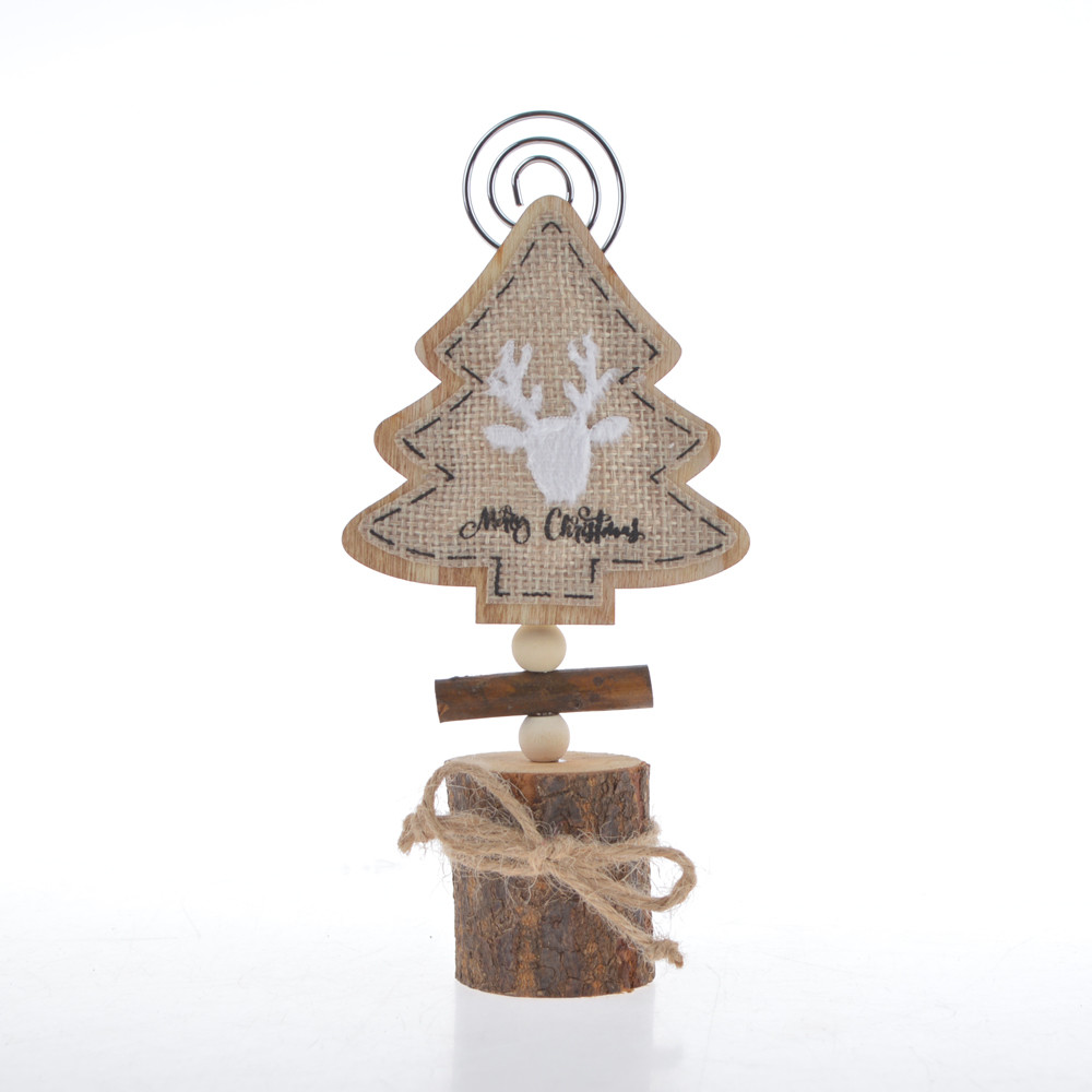 Name card holder table number clip Christmas tree heart star shape hook