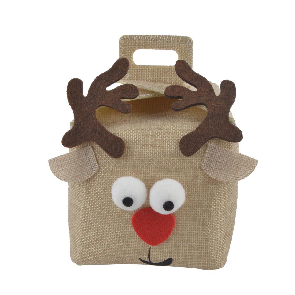 Lovely Christmas candy bag felt bags Christmas decoration elk fabric storage bag