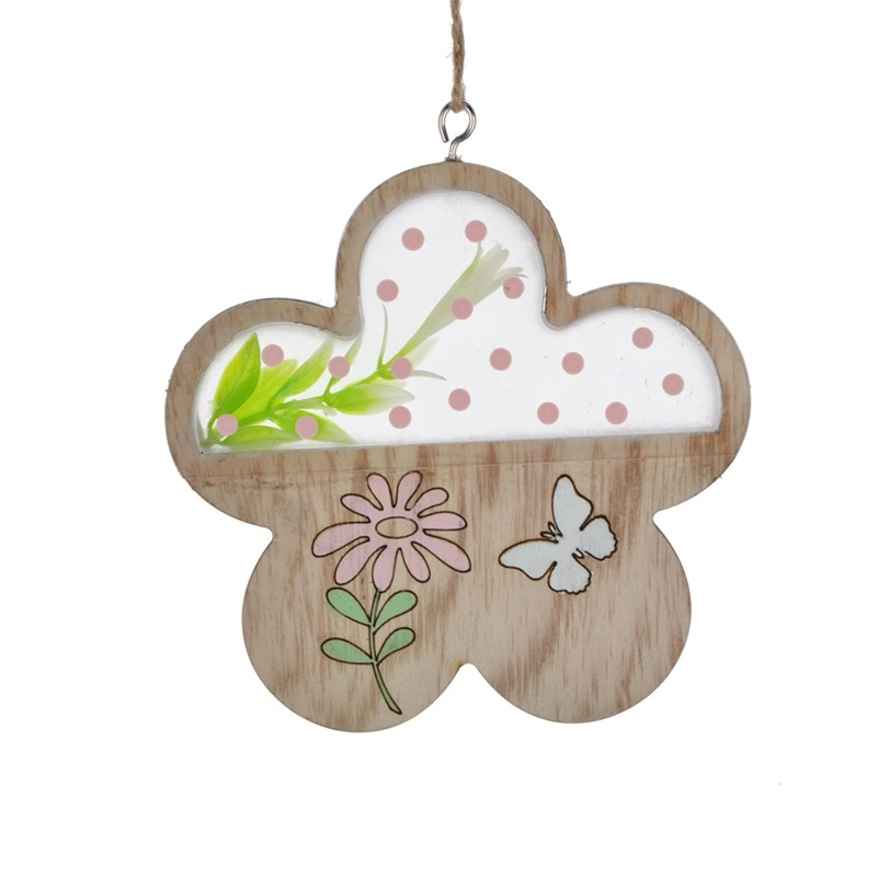 Hot sales color printing wooden butterfly hanging