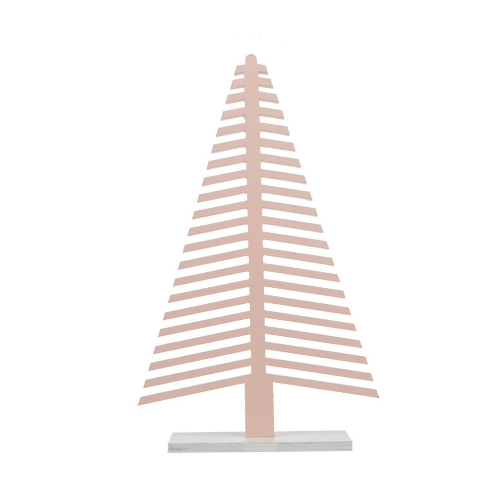 Wooden Christmas tree shaped tabletop decoration