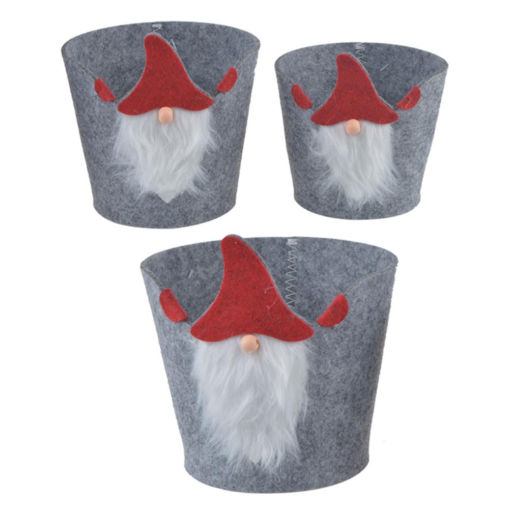 modern design felt storage bag Santa Clause design 24hours reply flower pot holder