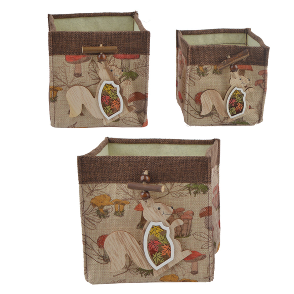garden decoration natural fabric square box flowerpot cover storage bag