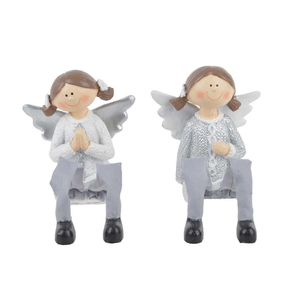 Christmas decoration polyresin angel shape figurin pray festival decoration