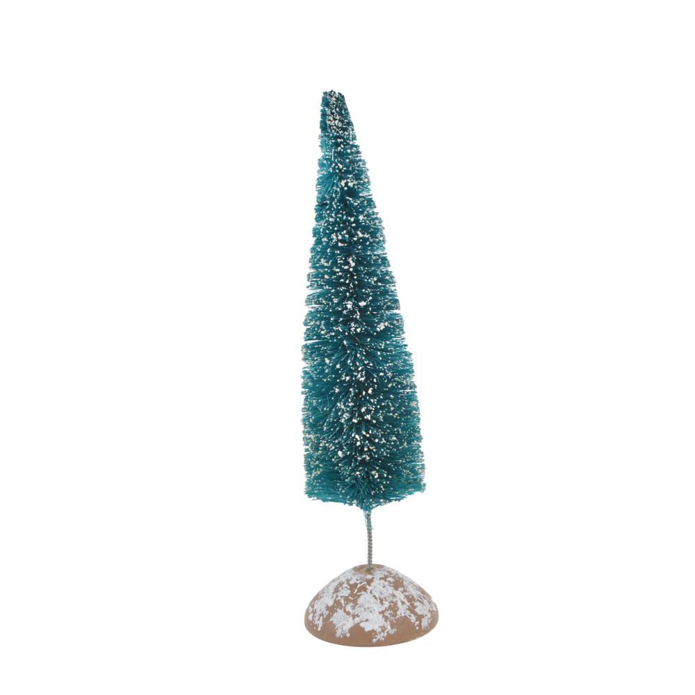 Mini natural christmas pvc tree wooden base tabletop decoration