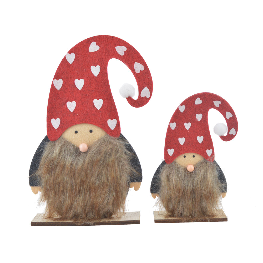 Miniature Santa Claus Wooden Christmas Santa Gnomes Standing Santa Desktop Decorations