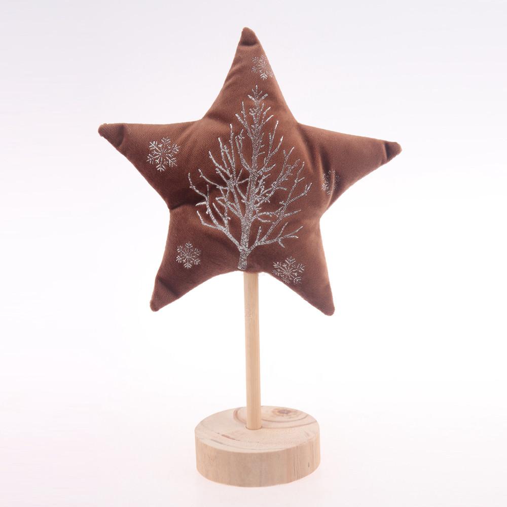 velvet  star shape embellishment christmas festival room decoration