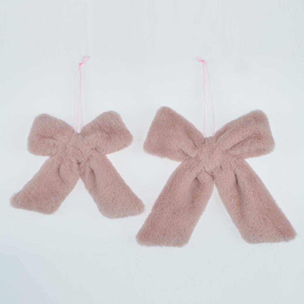 fluffy bowknot hanger ornament festival wall hanging