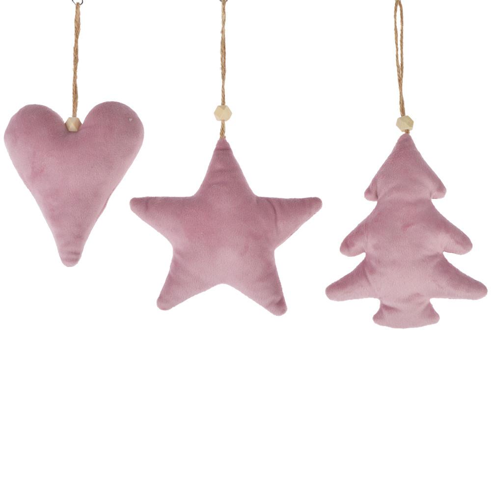 Knit tree/star/heart shape filler christmas tree hanger wall hanging