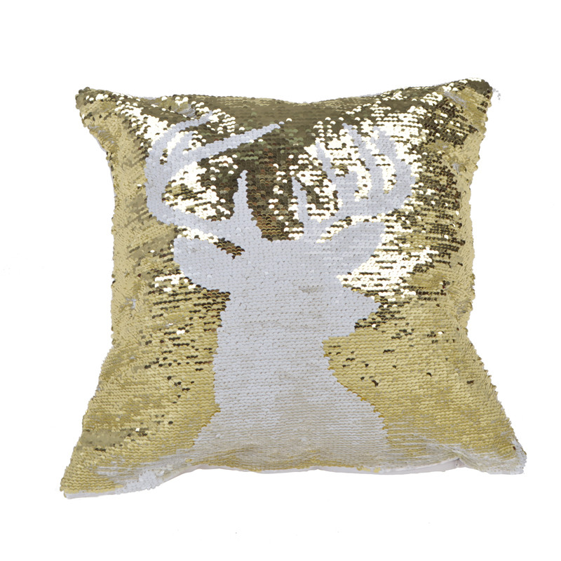 Double-sided gold and white sequins elk Christmas presents Christmas home decor items