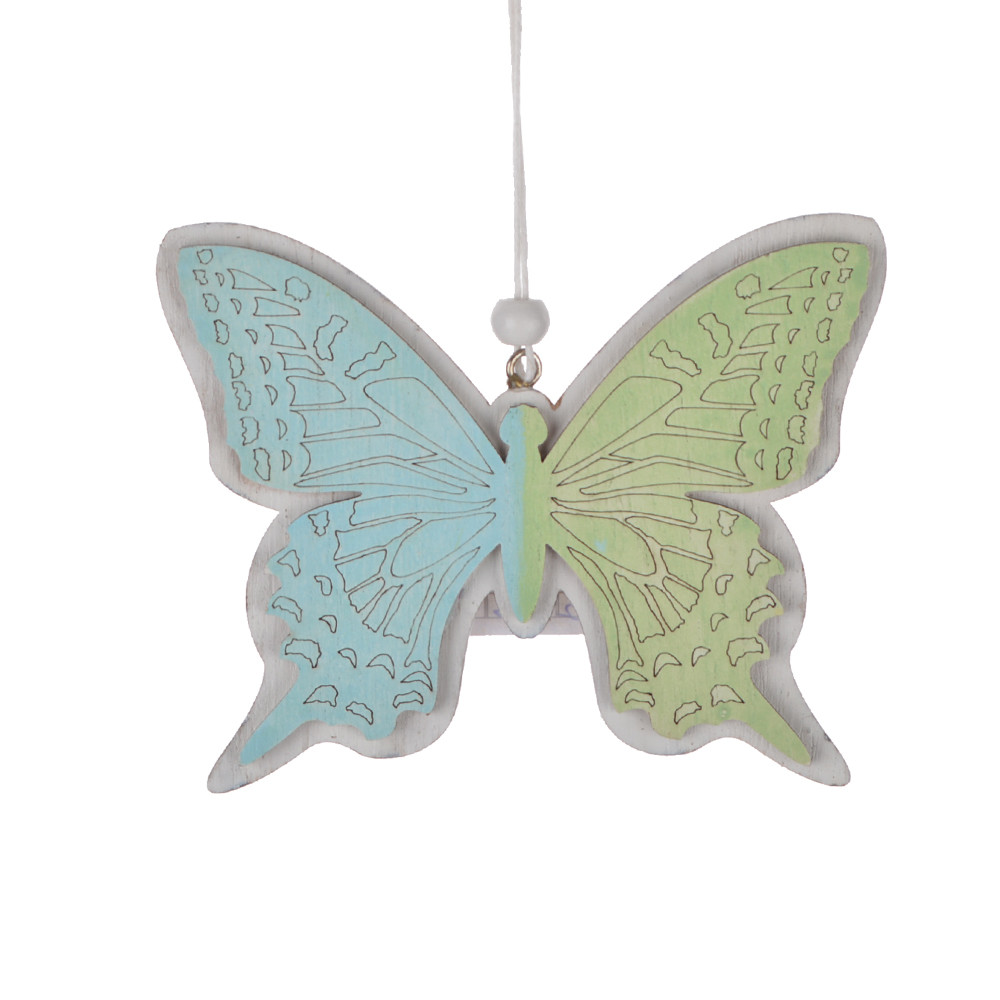 Wooden butterfly shape laser cut easter craft ornament wall hanging room pendant