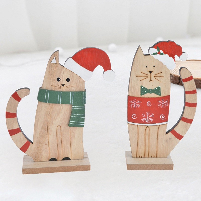 Wooden christmas house decoration note holder