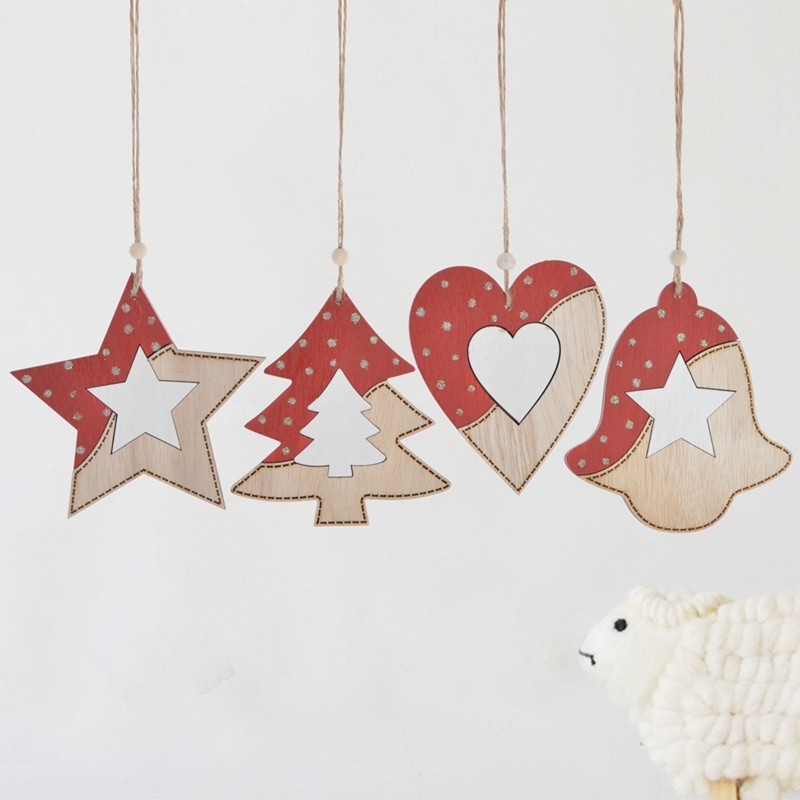 Hot sales wooden christmas tree hanging