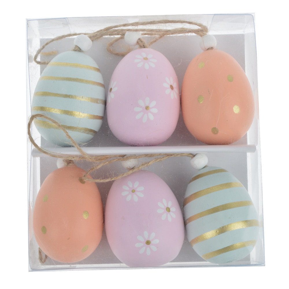 beautiful hanging Easter eggs a creative way to decorate for Easter