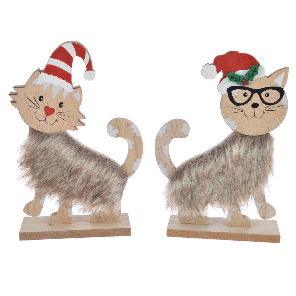 New trends for 2020 winter Christmas cute furry kitten decoration