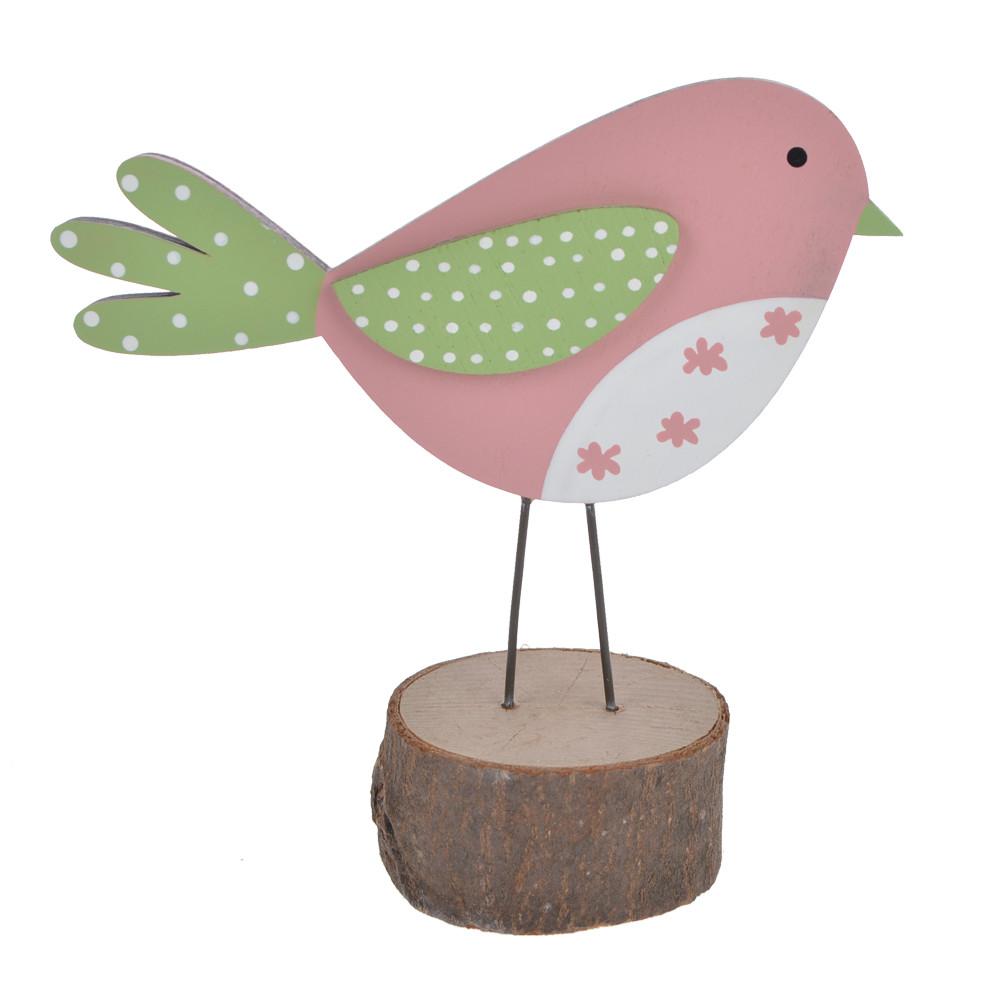 Wholesale Wooden Easter spring bird desktop decoration