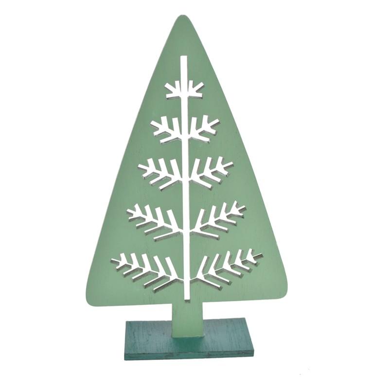Mini wooden christmas tree decoration xmas table ornament