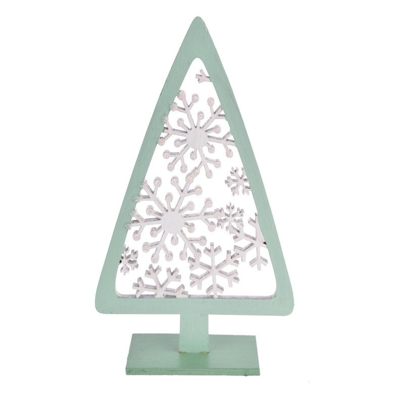 Laser cut hole wooden christmas tree decoration
