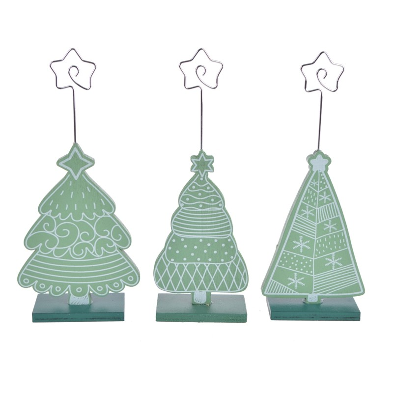 Color printing Mini wooden christmas party wedding seating cards decoration Favors Gifts