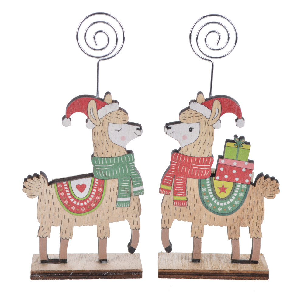 wooden winter lamb carries the Christmas gift album