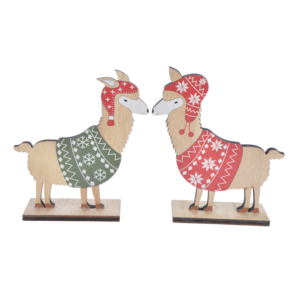 Christmas warm winter wooden sheep decoration