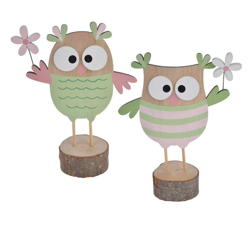 Wooden owl Easter supplies laser cut wood Easter