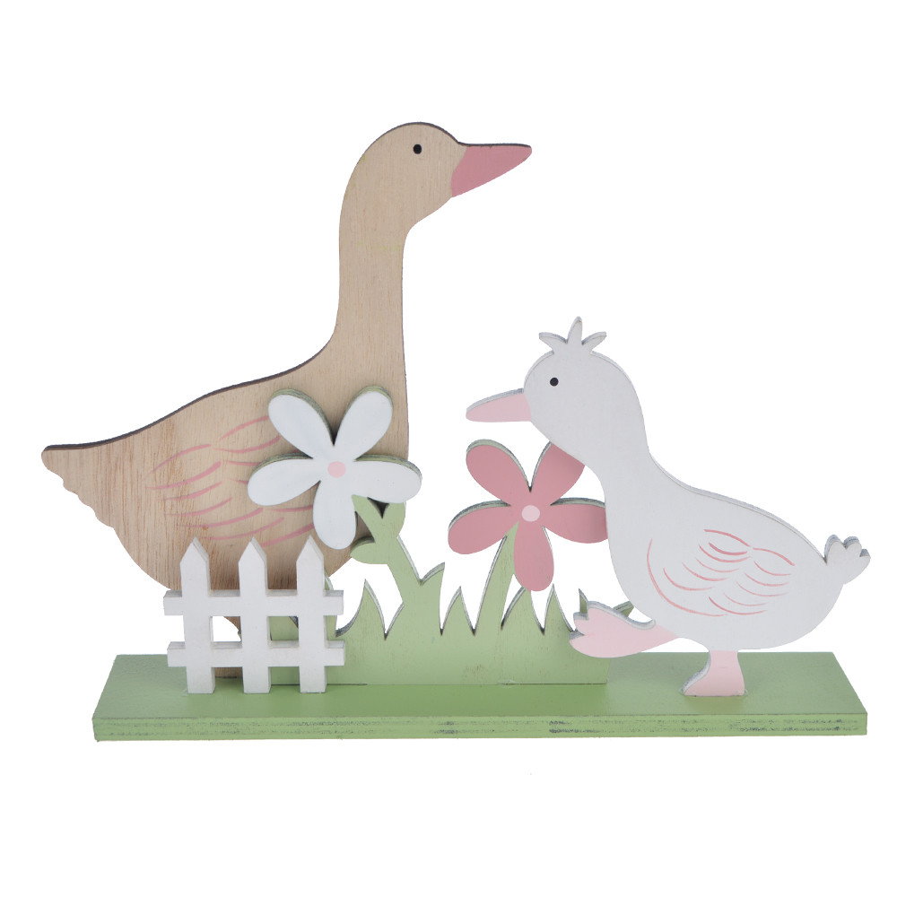 Wooden duck tabletop decoration wooden Easter decor
