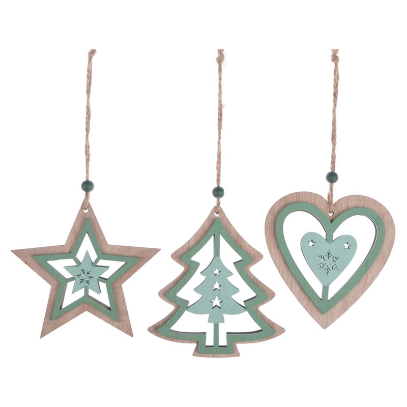 Hot sales wooden christmas tree pendent