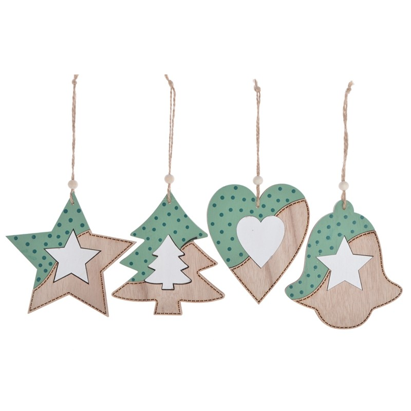 wooden christmas tree hanging decorate items