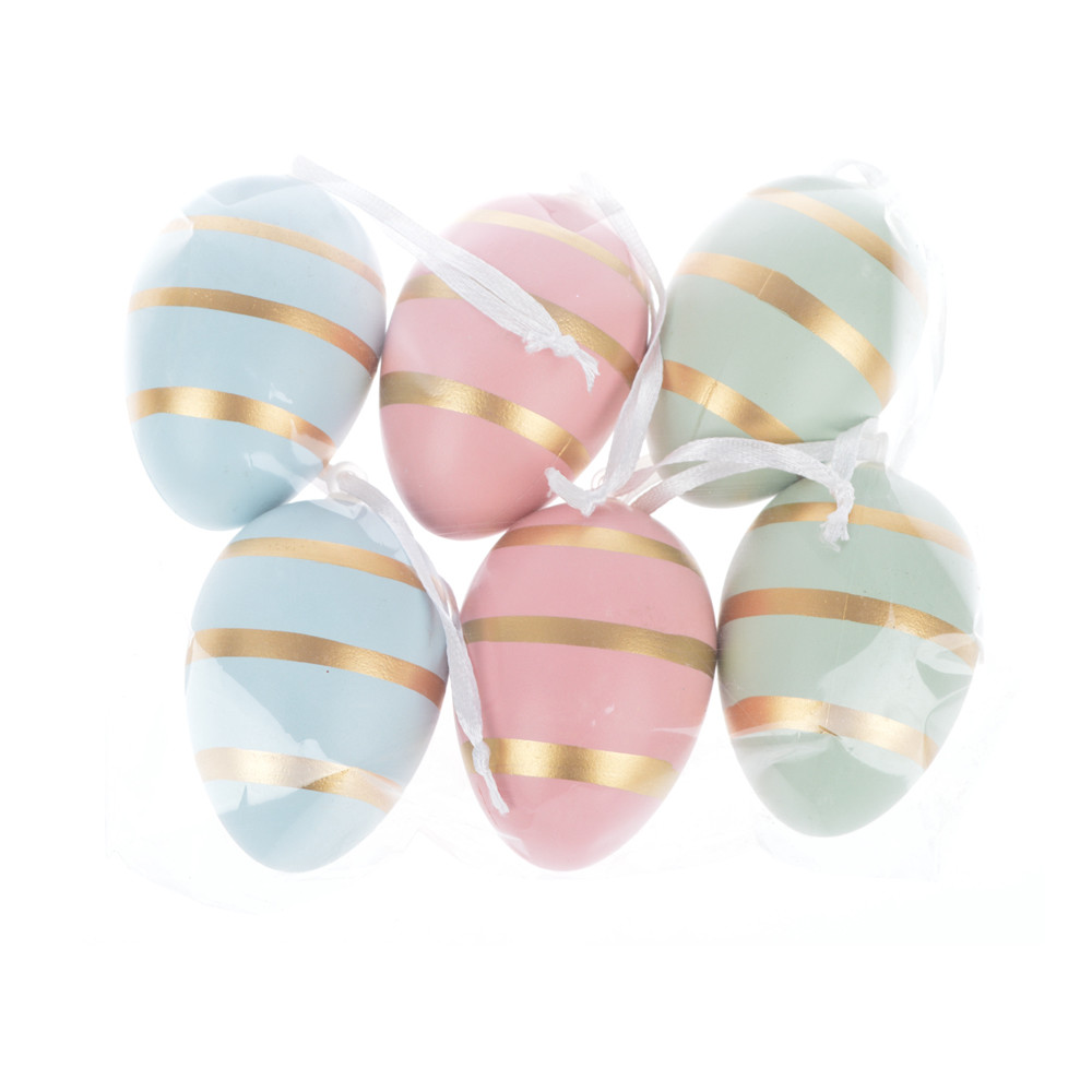 Colorful DIY Painting Plastic Easter egg hanging festival decoration